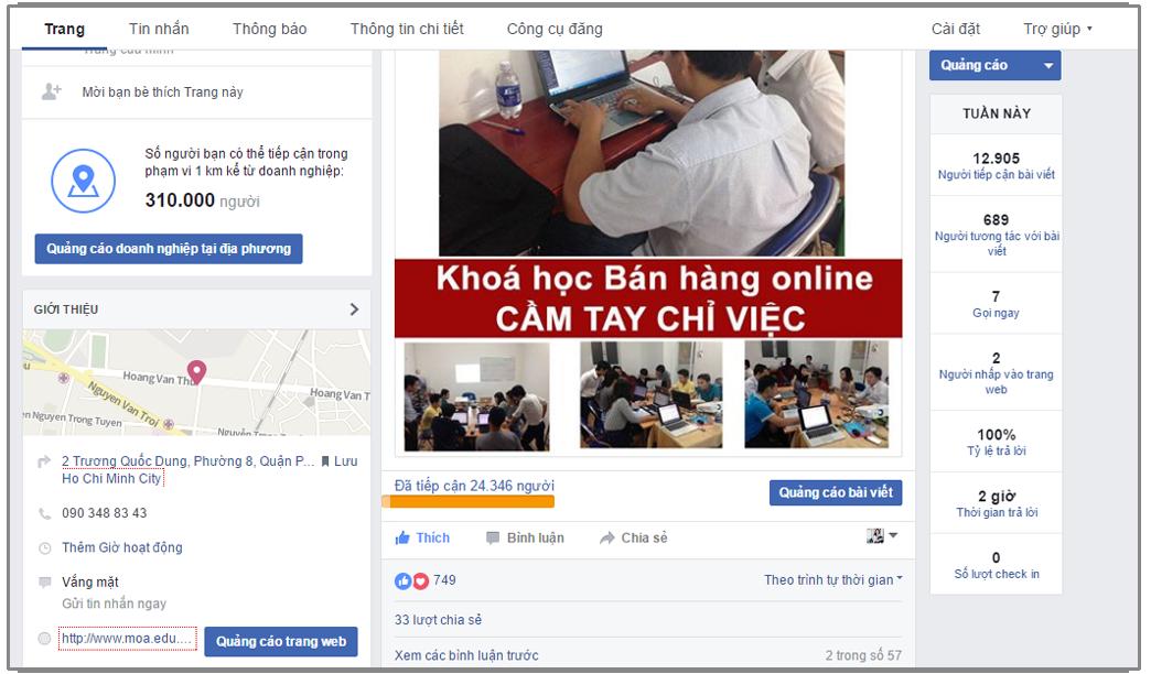 khóa học cách bán hàng trên facebook