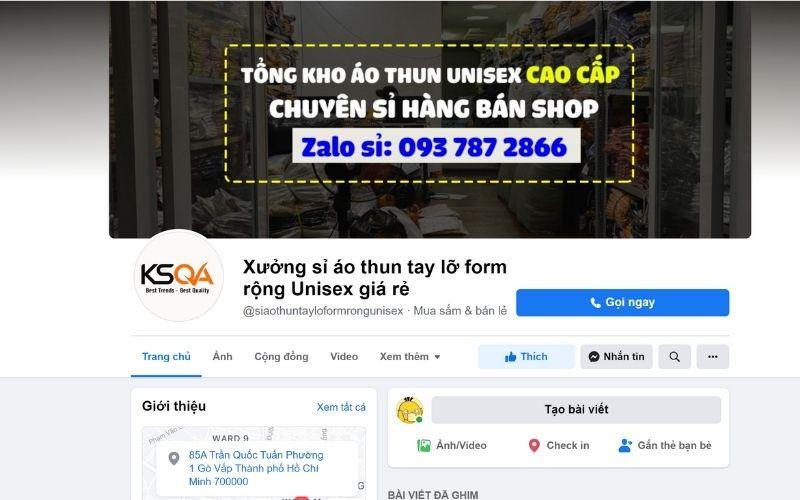 Fanpage bán áo thun