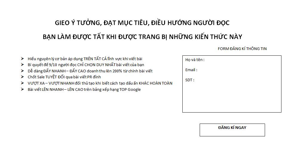 mau sale page ban hang chuyen nghiep