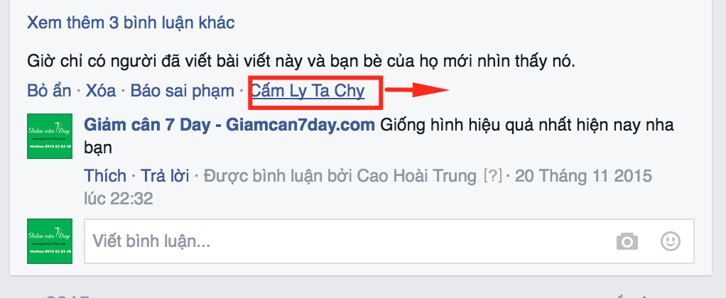 cam nguoi comment facebook