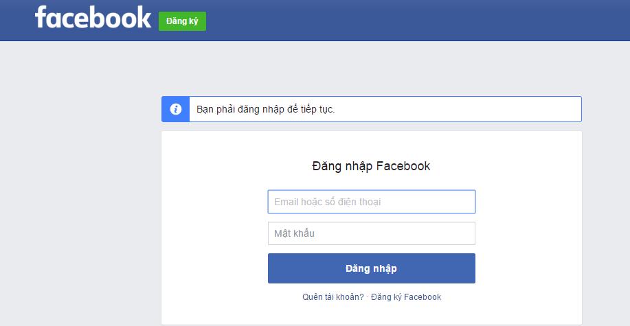 đăng ký facebook