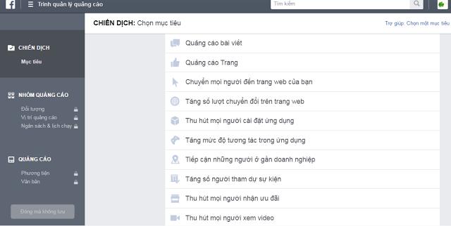 chọn quảng cáo facebook