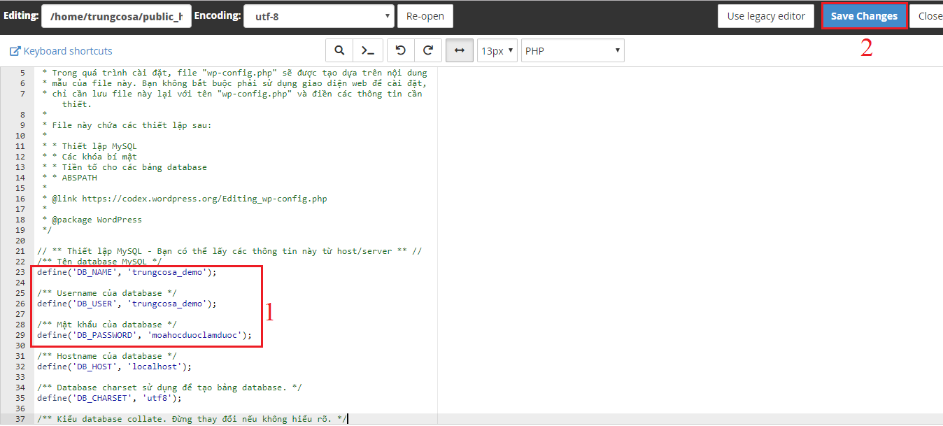 edit database