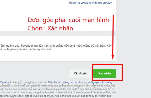 tự học chạy quảng cáo trên facebook xác nhận