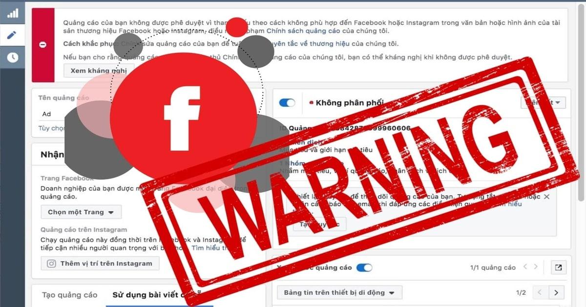 Những Từ Ngữ Bị Cấm Và Lỗi Không Phê Duyêt Quảng Cáo Facebook